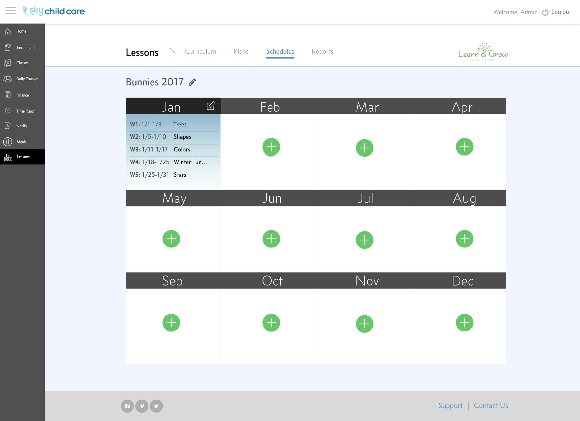 Lesson Plans - Schedules